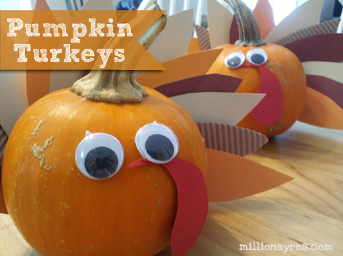Pumpkin Turkey Craft