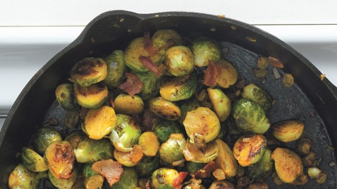 brussels-sprouts-with-bacon-and-raisins